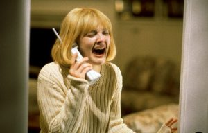 "Drew Barrymore in Wes Craven's ""Scream"""