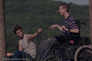 "Luke Grimes and Dan McCabe in ""War Eagle, Arkansas."""